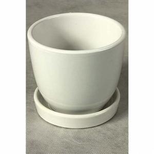 Керамические горшки для цветов белые
