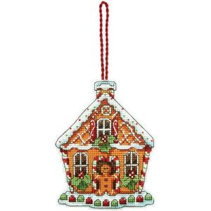 Gingerbread House Ornament Dim2013