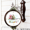 Настенные часы для оформления вышивкой