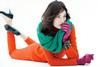 Бирюзовый шарф-снуд