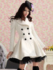Princess Lolita Cute Sweet Gothic Nana PUNK Kera Long Lace Jacket Coat