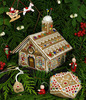 Gingerbread Stitching House - Cross Stitch Pattern by Victoria Sampler