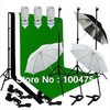 1.5*3M Backdrop Cloth]Photography 3 Light Bulb Lighting 3 Muslin Background 1 Backdrop Stand Support Photo Studio Kit