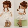 Schildkrot-Puppen Кукла шарнирная в платье цвета экрю