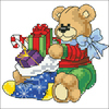 8661 Christmas bears Dimensions Мишка с мешком