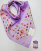 Платок LADUREE Paris Japan Macaron Heart Charms Pattern Cotton Large Scarf-Purple-58cm