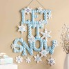 Let it Snow Christmas Door Wall Hanging Bucilla