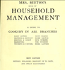 Mrs. Beeton's book of household management : a guide to cookery in all branches