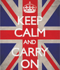 "banner ""Keep calm and carry on"""