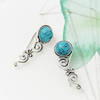 turquoise ear cuffs