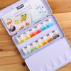 12 Colors/set High Quality Watercolor Paints Solid Watercolors Iron Box for Painting Pigment Artist Supplies