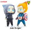 Captain America and Winter Soldier chibi action figures