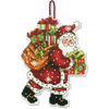 Santa with Bag Counted Cross Stitch Ornament