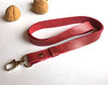 Red Leather Lanyard