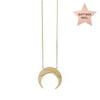 CRESCENT CANCER ZODIAC GOLD NECKLACE