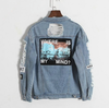 Where is my mind? Distressed Denim Jacket