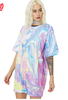 PRINTED SEQUIN OVERSIZED T-SHIRT DRESS
