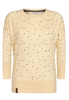 MAJA TRIANGLES III Light Yellow Melange Strickpullover mit allover Druck