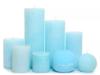 Свечи толстые любых оттенков розового и/или голубого