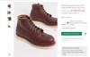 Бордовые ботинки высотой 6 дюймов Red Wing classic moc