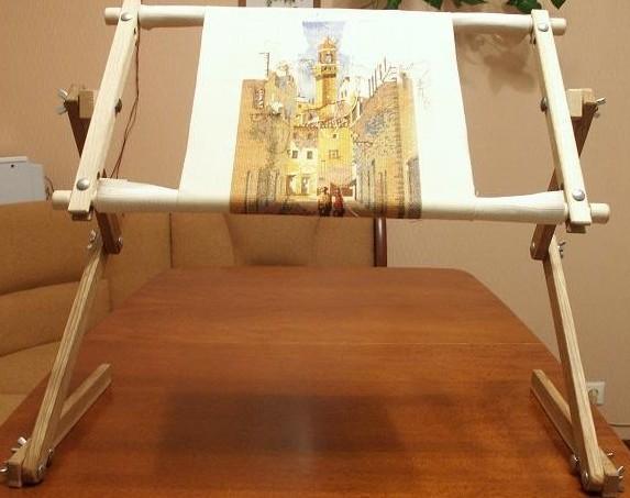 Станок для вышивания диванный своими руками