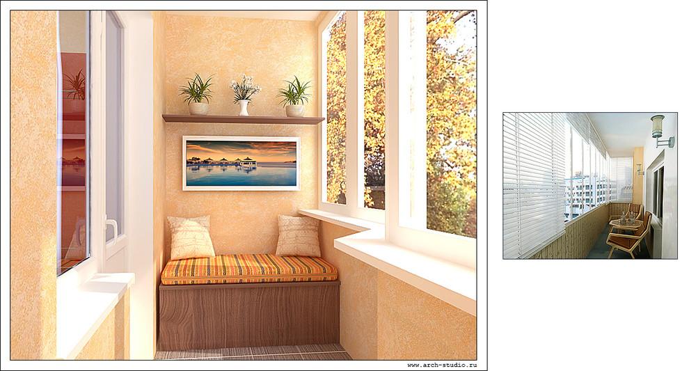 Отделка балконов и лоджий декоративной штукатуркой. в минске.