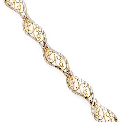 Браслет изготовлен из золота 585 пробы. Примерный вес изделия: 7,86 гр. шкатулки. Это может вас заинтересовать