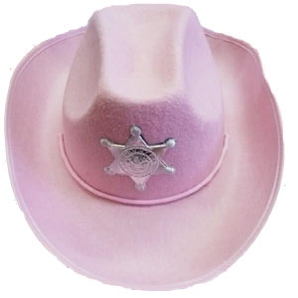 Шляпа Ковбойская Шериф розовая Н-14626