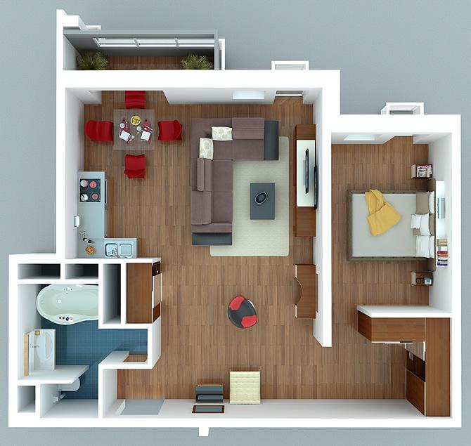 Традиционно квартира-студия