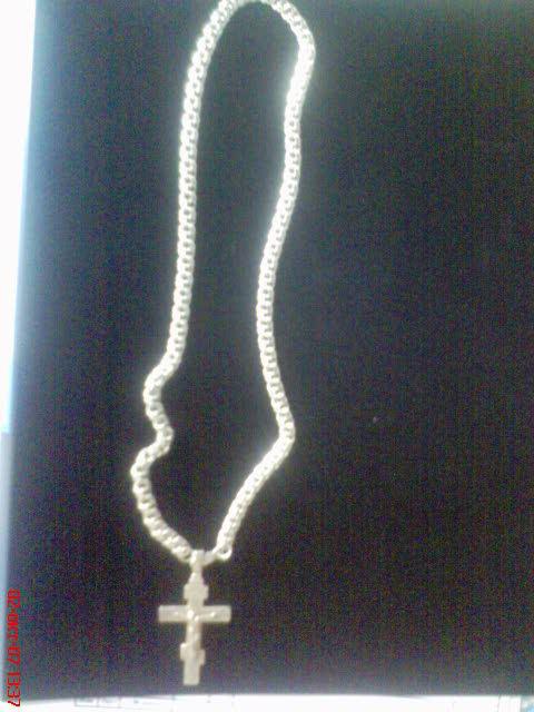 серебряные крестики с цепочкой фото