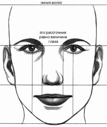 как рисовать лицо по
