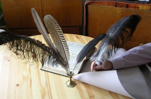 Как сделать золотое перо