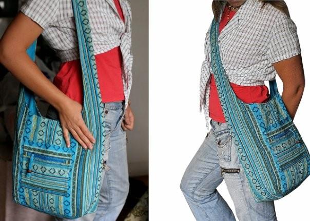 Как сделать сумку через плечо из ткани своими руками