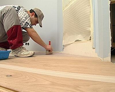 Виды красок для деревянных полов