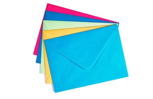 Красивые конверты из цветной бумаги
