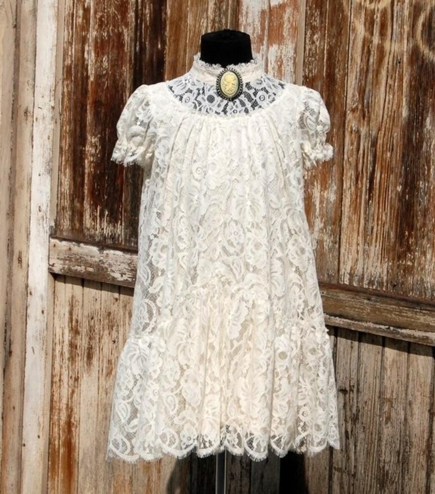 Белое платье с кружевом своими руками 30