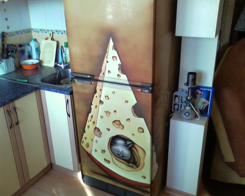 Как отреставрировать старый холодильник своими руками