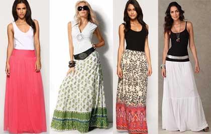 модели предлагают нам сегодня модные дома, длинные юбки макси и юбка