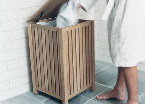 Короб для белья своими руками в ванной 79