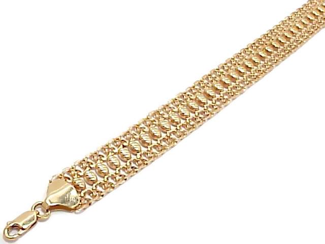 Браслет плетение восьмерка золото