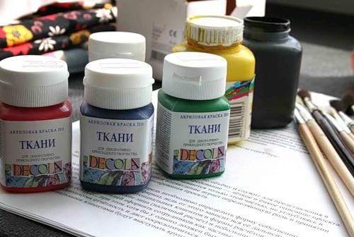 Акриловая краска для ткани своими руками