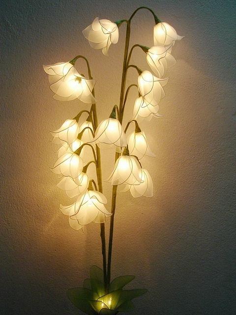 Как сделать светильник из цветов своими руками
