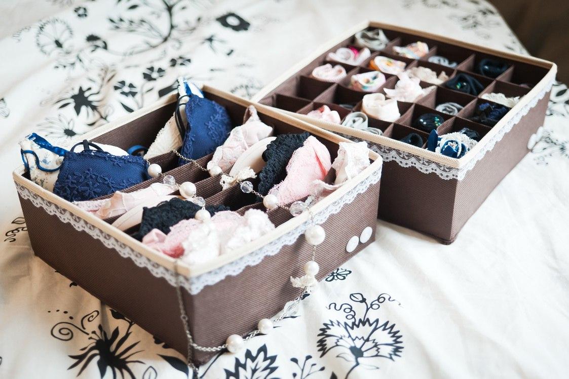 Сделай сам коробку для хранения нижнего белья своими руками 20