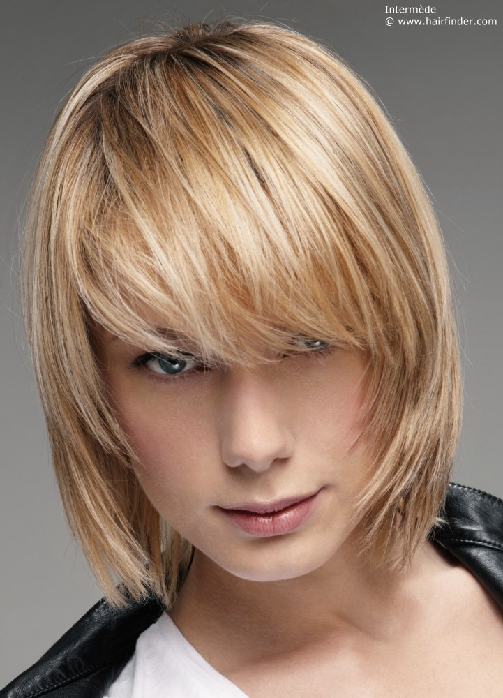 Стрижки на средние волосы жидкие волосы