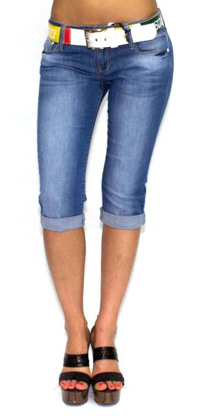 Джинсы до колена женские