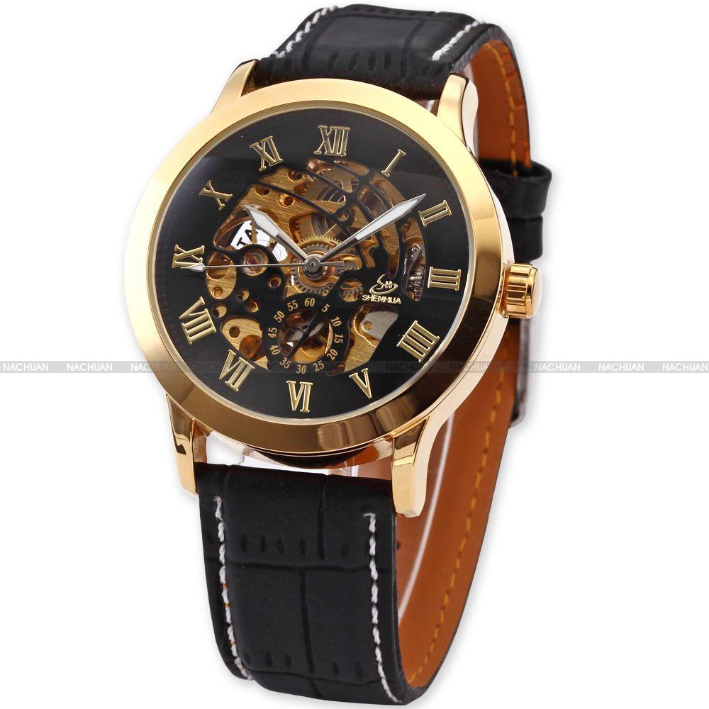 новый товар доставка по Японии осуществляется бесплатно) мужской автоподзавод... скелетон наручные часы