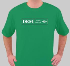 """No One Admitted"" anti-DRM T-shirt"