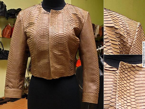 Женская одежда из кожи питона.  Куртка жен. арт fx5.  Каталог.