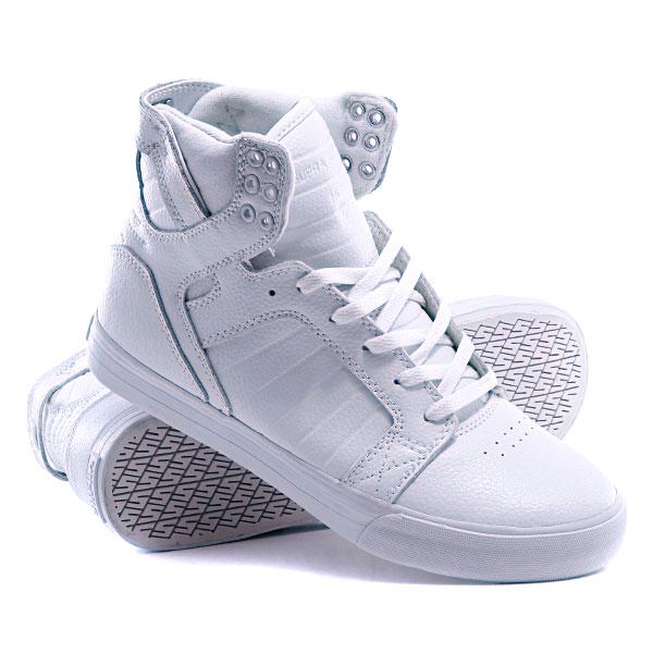 обувьМужские. кедыБелые. высокие кеды Supra ... 7de04492f68