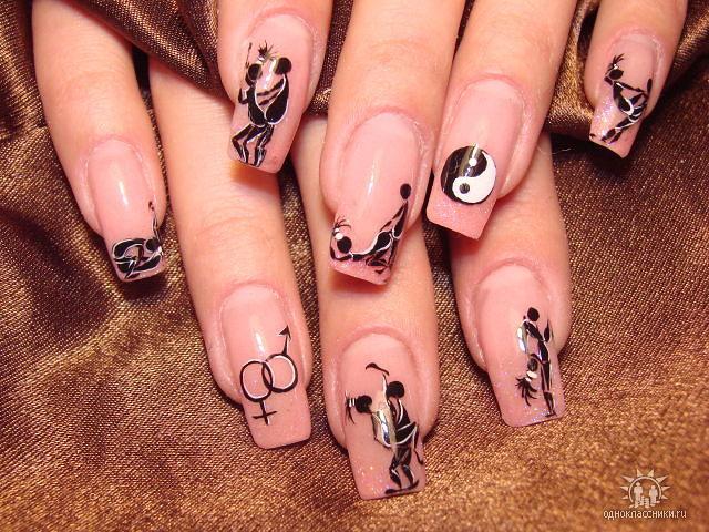 Рисунки на ногтях смешные
